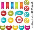 sale sticker badge stamp and tags - stock vector
