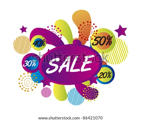 sale surprise isolated over white background. vector