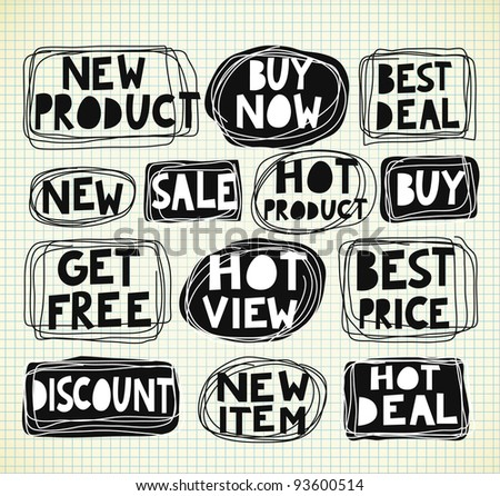sale tag - stock vector