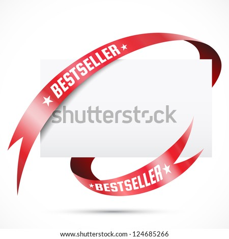 Sale tag. Blank paper with ribbon - stock vector