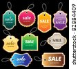 Sale tag collection - stock vector