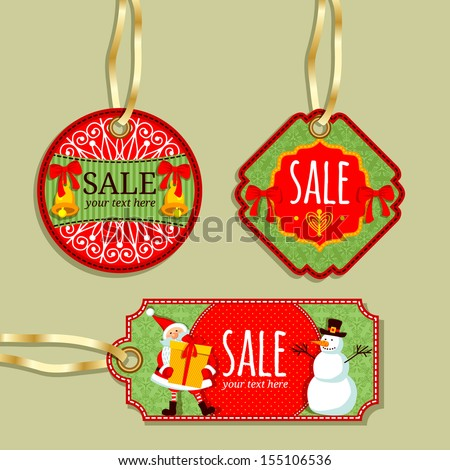 Sale tag collection. Labels store.  - stock vector