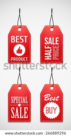 Sale tag. Coupons.  - stock vector