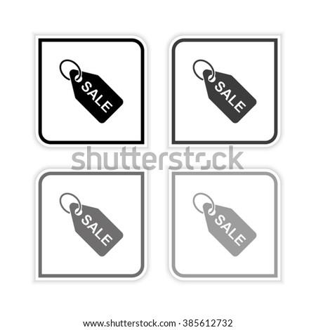 SALE tag -  grayscale vector icon - stock vector