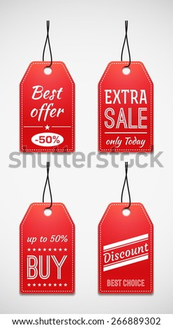 Sale tag set - stock vector