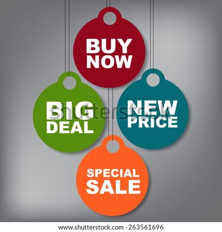 Sale tag vector - stock vector