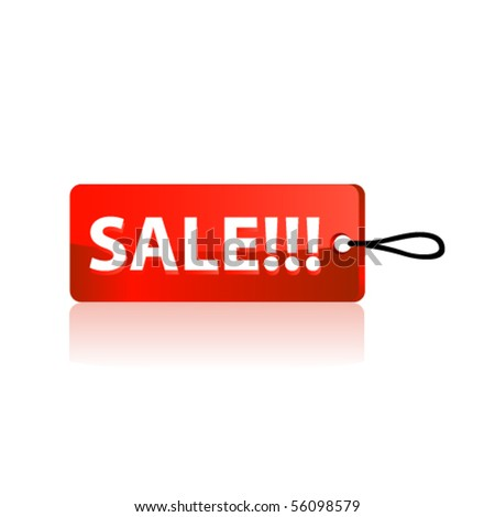 Sale tag. Vector - stock vector