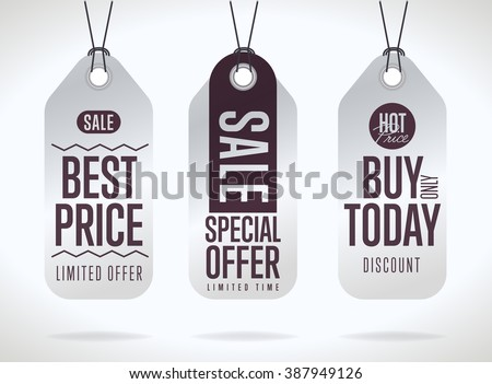 Sale tag vector. Sale tag isolated. Sale sticker with special advertisement offer. Best price tag. Buy today tag. Special offer tag. Retail tag or sticker. Tag template. Discount tag. Modern style tag - stock vector
