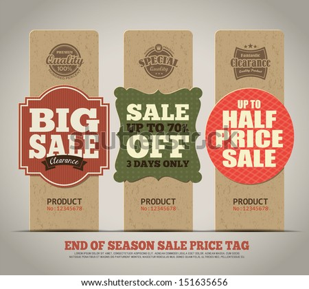 Sale Tags Design - stock vector