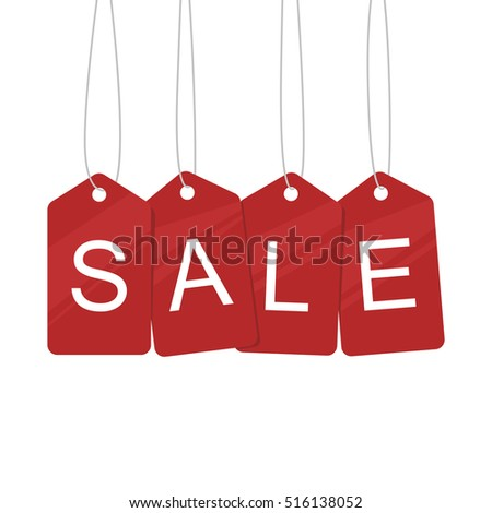 Sale tags sign vector illustration