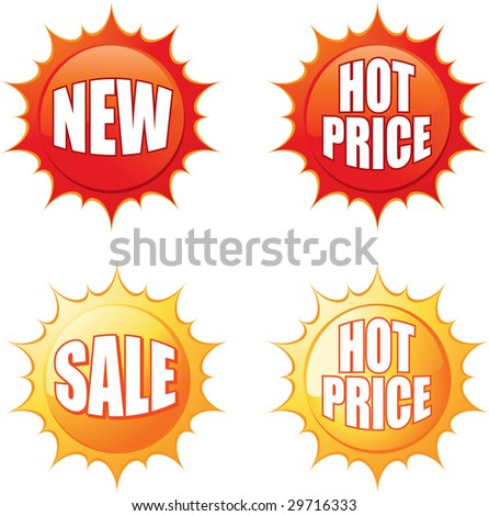 Sale Tags - Use for advertising product or service - stock vector