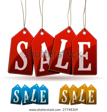 Sale tags. Vector Illustration - stock vector