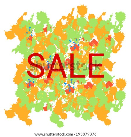 Sale typographic stickers. Vector illustration.  - stock vector