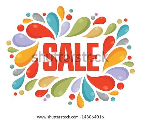 Sale Vector Color Label - stock vector