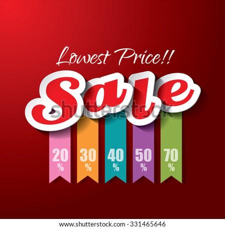 Sale Vector Design - stock vector