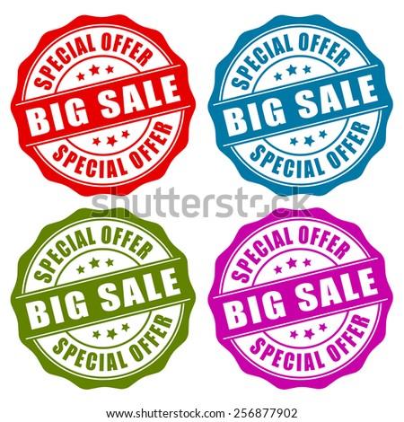 Sale vector stamp - stock vector