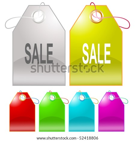 Sale. Vector tags.