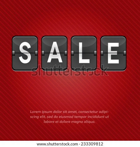 Sale word with space for your text. Vector Illustration.