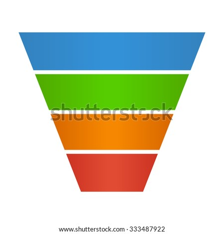 Sales lead funnel flat icon for presentation apps and websites - stock vector