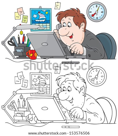 Sales manager - stock vector