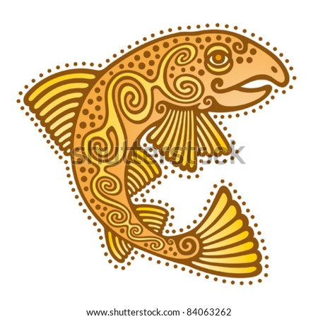 Fish Tribal Stock Photos, Illustrations, and Vector Art