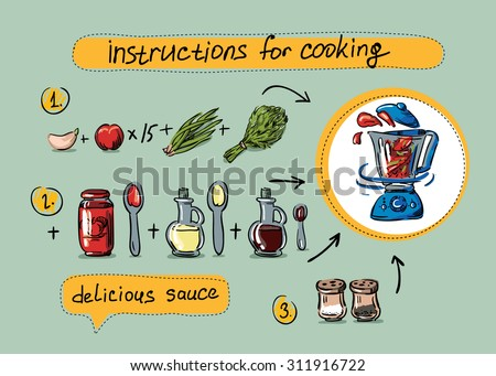 Salsa Sauce Step By Instructions Cooking Recipe Animation