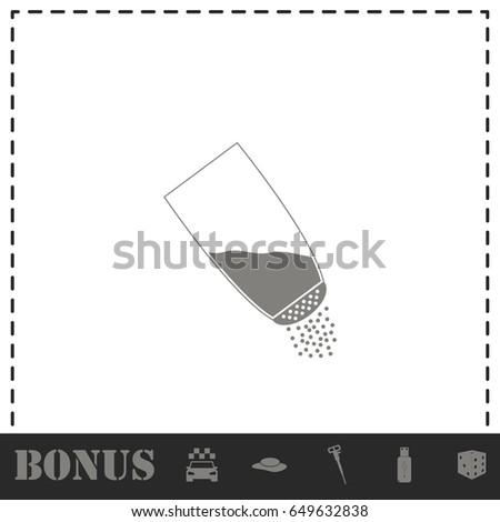 Salt Icon Flat Simple Vector Symbol Stock Vector 649632838