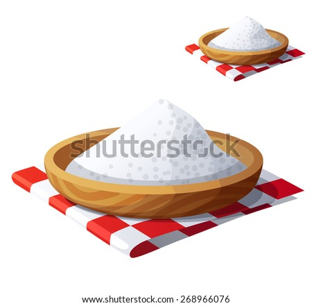 Salt isolated on white background. Detailed Vector Icon. Series of food and drink and ingredients for cooking. - stock vector