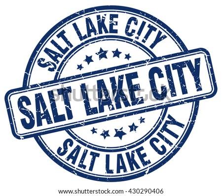 Salt Lake City blue grunge round vintage rubber stamp.Salt Lake City stamp.Salt Lake City round stamp.Salt Lake City grunge stamp.Salt Lake City.Salt Lake City vintage stamp. - stock vector