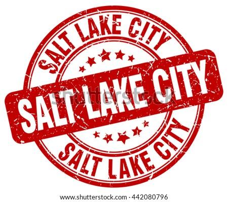 Salt Lake City red grunge round vintage rubber stamp.Salt Lake City stamp.Salt Lake City round stamp.Salt Lake City grunge stamp.Salt Lake City.Salt Lake City vintage stamp. - stock vector