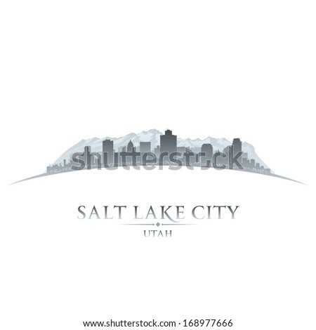 Salt Lake city Utah skyline silhouette. Vector illustration - stock vector