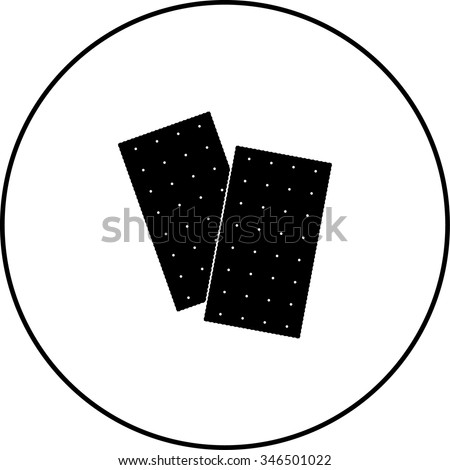 saltine crackers symbol - stock vector