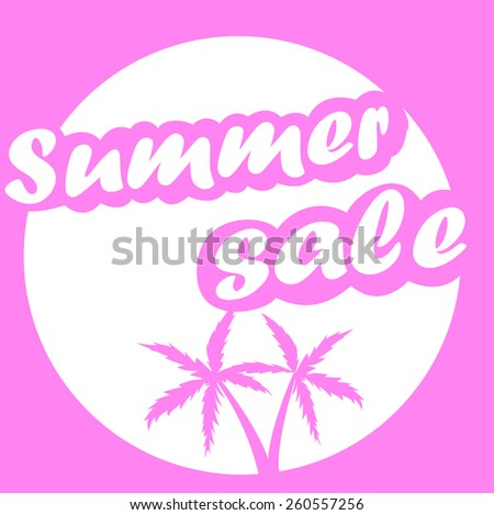 Sammer sale. Big Sale vector design template pink color.  - stock vector