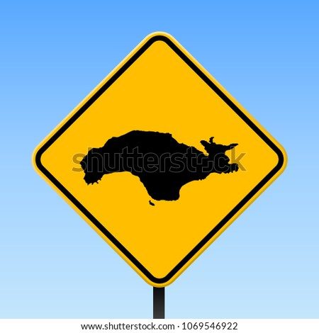 Samos Map Road Sign Square Poster Stock Vector HD Royalty Free
