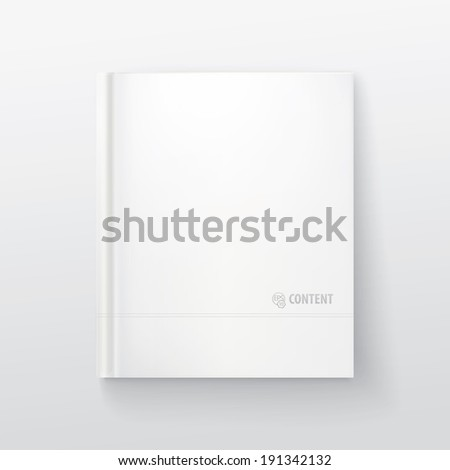 "Sample book cover 9.1/2""x 12""  size - stock vector"