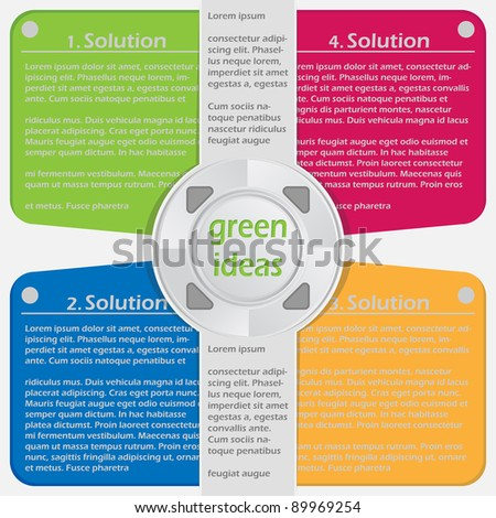 sample bright brochure - stock vector