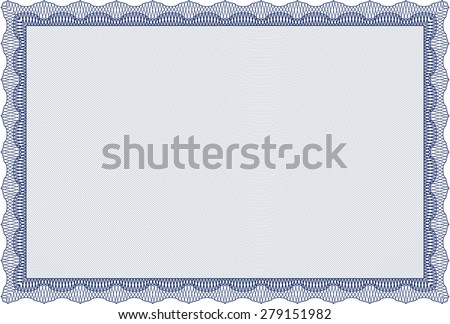 Sample Diploma. Modern design. Frame certificate template Vector.With background.  - stock vector