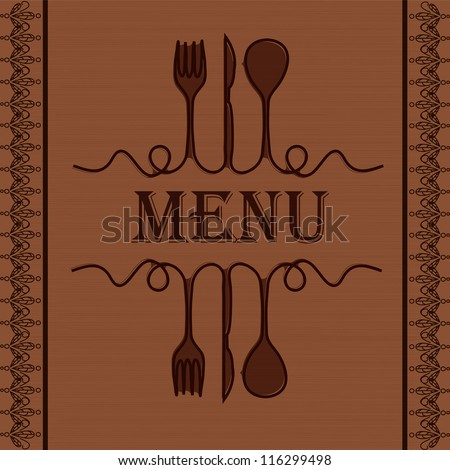 sample menu restaurant stock vector 116299498 shutterstock