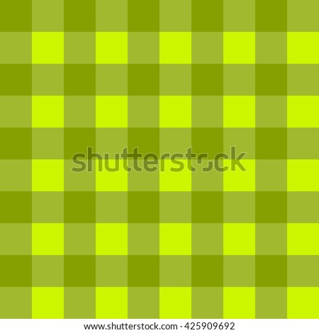 Sample pretty seamless bright green checkered fabric. - stock vector