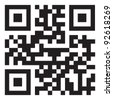 sample qr code ready to scan with smart phone - stock photo