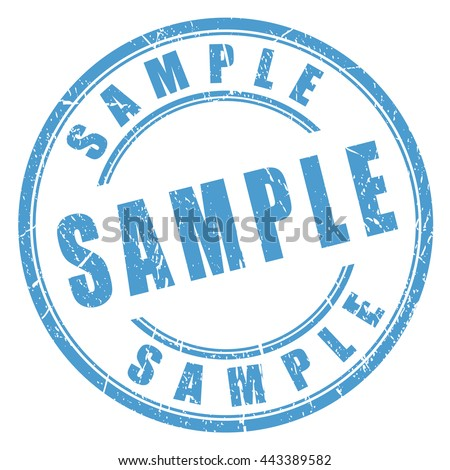 Sample rubber stamp vector illustration isolated on white background - stock vector