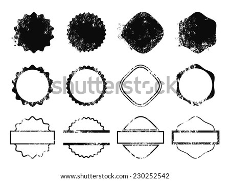 Sample Stamps Vector Set - stock vector