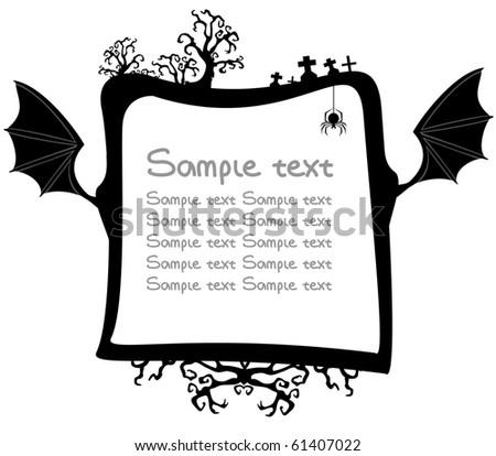 Sample text on Halloween - stock vector