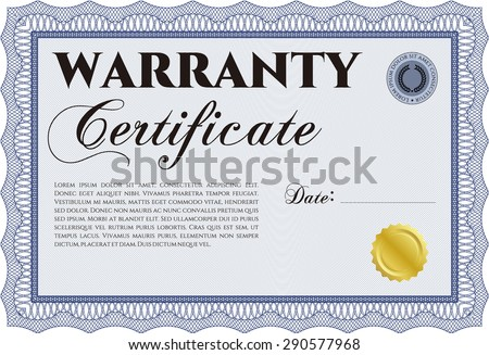 Sample warranty certificate template sample text stock vector sample warranty certificate template with sample text with background retro design yadclub Gallery