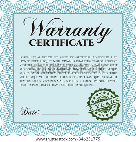 Amazing Warranty Certificate Template Contemporary  Best Resume