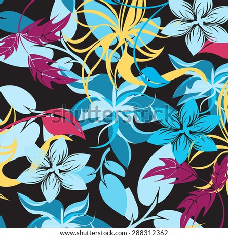 Samples Pattern flower - stock vector