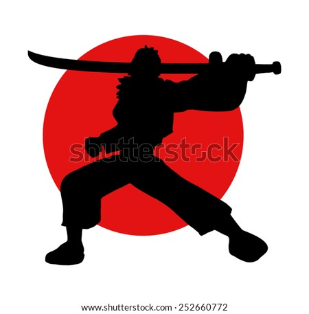 Samurai japanese - stock vector