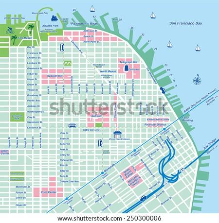 San Francisco City Map / Vector illustration - stock vector