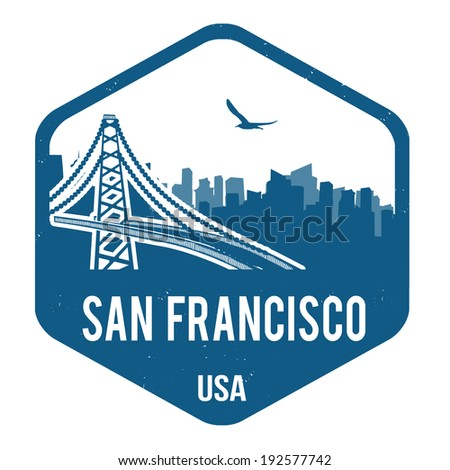 San Francisco grunge rubber stamp on white, vector illustration - stock vector