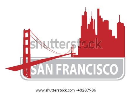 San Francisco outline. Vector illustration - stock vector